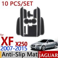 Для Jaguar XF 2007- X250 противоскользящими резиновыми подставки под стакан паз мат 10 шт. 2008 2011 2012 Аксессуары для стайлинга автомобилей Стикеры