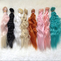 10PCS/LOT Wholesale 25CM BJD SD DIY Synthetic Wavy Wig  Doll Curly Doll Hair