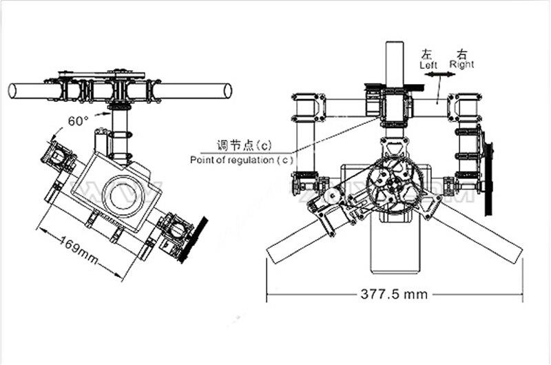 Tarot Invincible 3 axes TL100AAA 5D2 support de caméra pour DSLR 5D Mark D800 900 photo aérienne FPV TL100B01 - 6