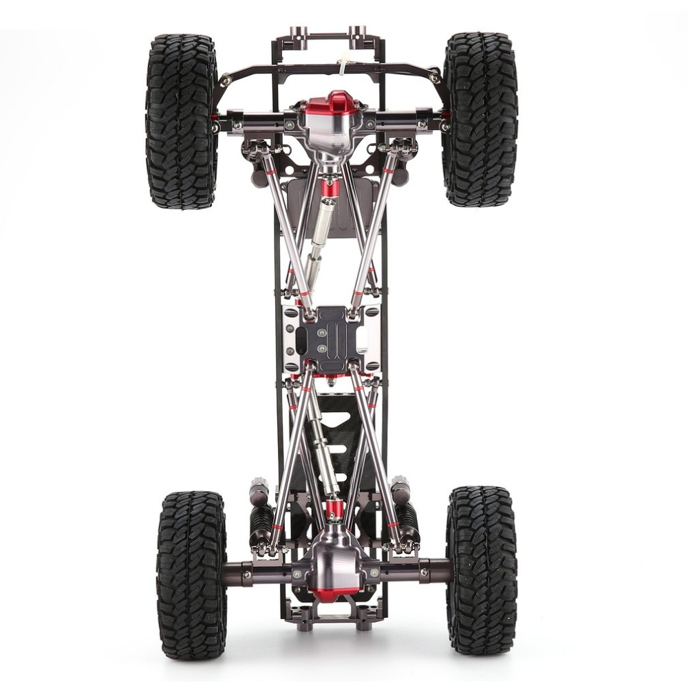 CNC Aluminum Metal and Carbon Frame Body for RC Cars 1/10 AXIAL SCX10 Chassis 313mm Wheelbase Vehicle Crawler Car Part Accessory fischer audio fa 791
