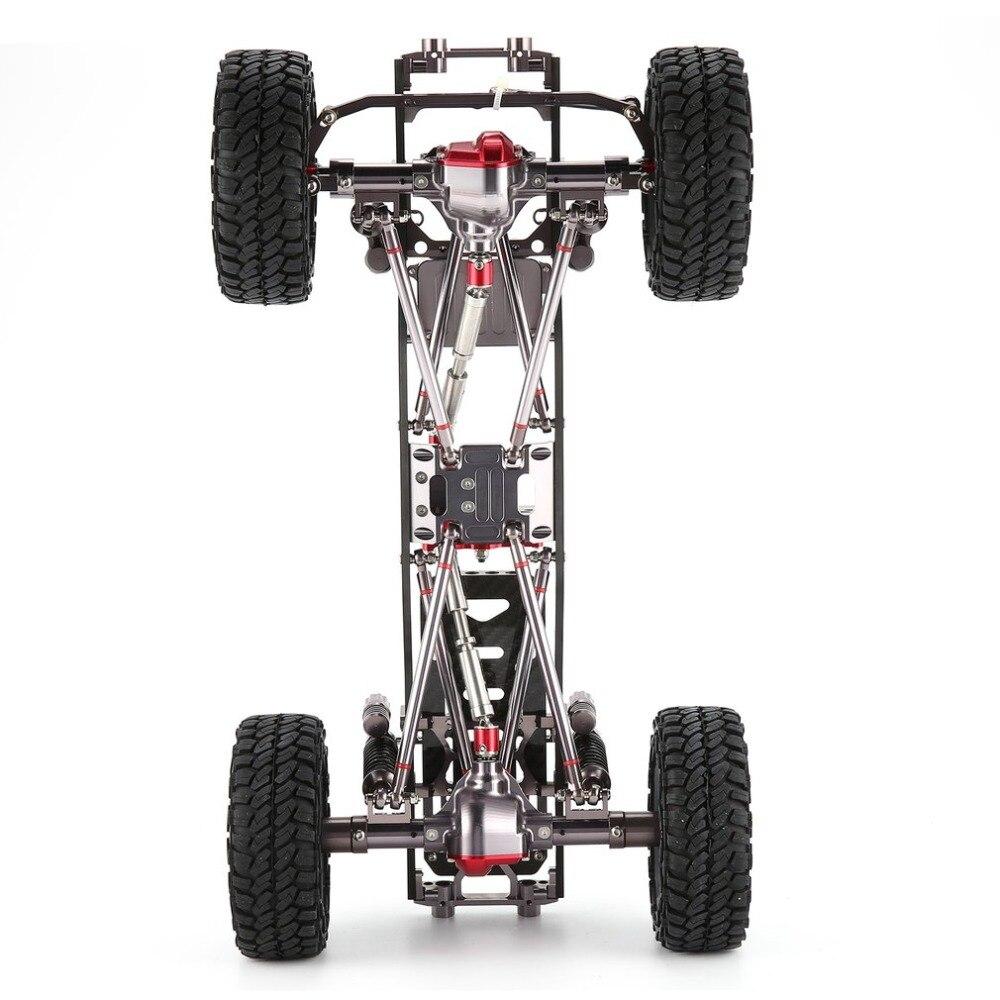 CNC de Metal de aluminio y carbono de cuerpo para coches RC 1/10 AXIAL SCX10 chasis 313mm distancia entre ejes vehículo coche de orugas de parte accesorio