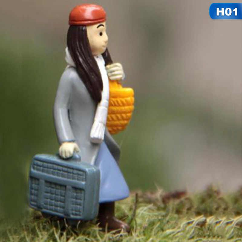 1PC Mini Couples Dolls Fairy Garden Miniatures DIY Micro Landscape Decor Dollhouse Action Figures Figurine Vintage Home Decor