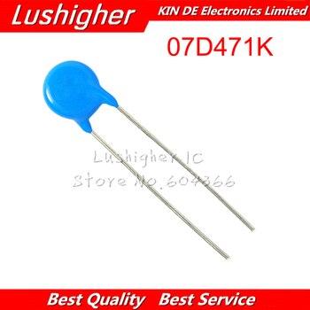 50 Uds Varistor 07D471K 07D471 470V Piezoresistor 7D471K