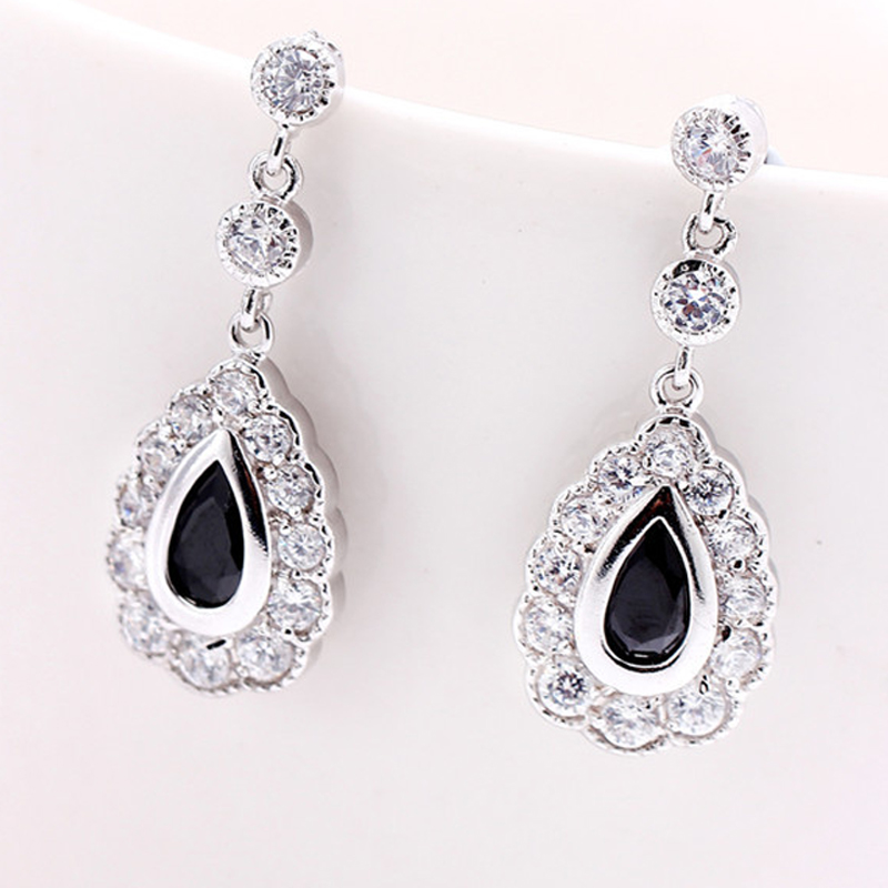 XOWSHINE 5 Color Women Water Drop Earrings AAA Zirconia Claires Hanging Earrings White 1 Plated Trendy Jewelry Pusety
