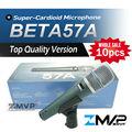 Free Shipping! 10pcs Top Quality Version BETA57 Professional BETA57A Karaoke Handheld Dynamic Wired Microphone Beta 57A 57 A Mic