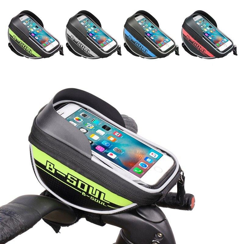 B-soul Bici Fotogramma Sacchetto Anteriore Del Tubo Ciclismo Equitazione Borsa Pannier Accessori Per Biciclette Caso Smartphone e GPS Touch Screen 4 Colori