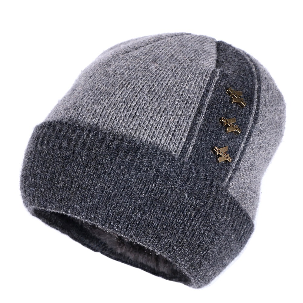 3c230a939a5 new fashion men women wool beanies casual skullies gorros high quality  cashmere winter hats double layer