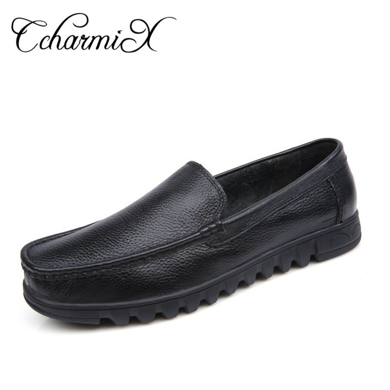 Big Size 37-48 Mens Dress Shoes Genuine Leather Men Loafer Slip on Black Business Flats Masculino Moccasins Male Casual Shoes pl us size 38 47 handmade genuine leather mens shoes casual men loafers fashion breathable driving shoes slip on moccasins