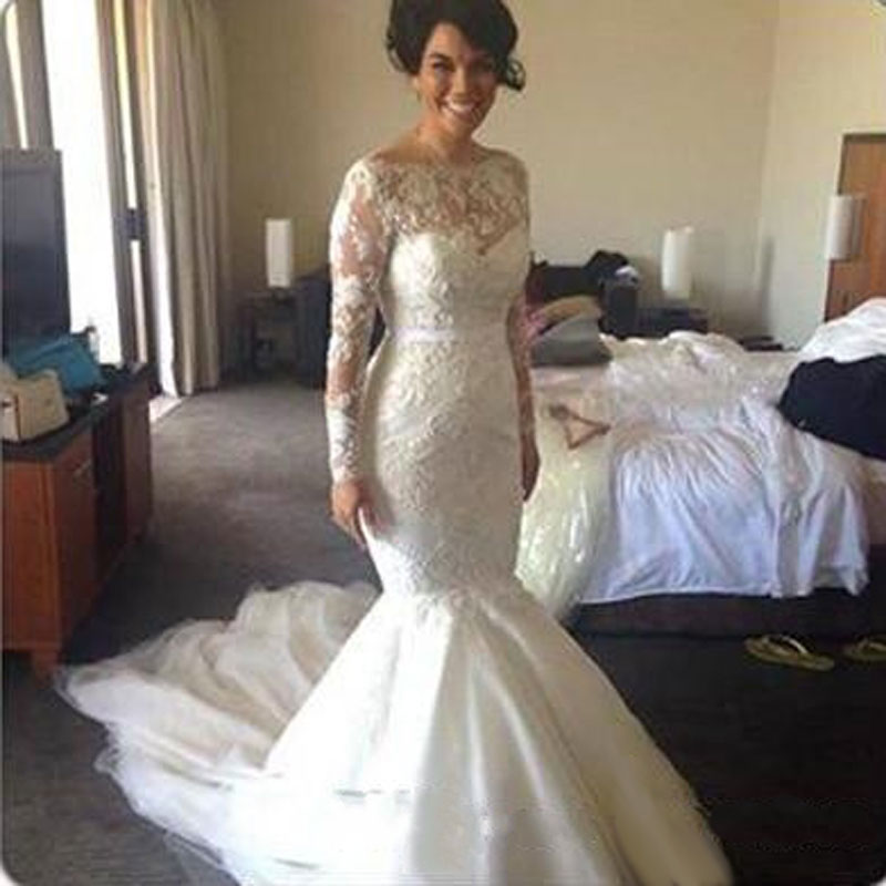 wedding gowns boat neck dress luxury wedding gown black women online