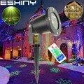 ESHINY R & G Fernbedienung Im Freien Wasserdichte Weihnachten Schnee Laser projektor 2 muster Landschaft Urlaub Dance party Baum Garten Licht t78D2