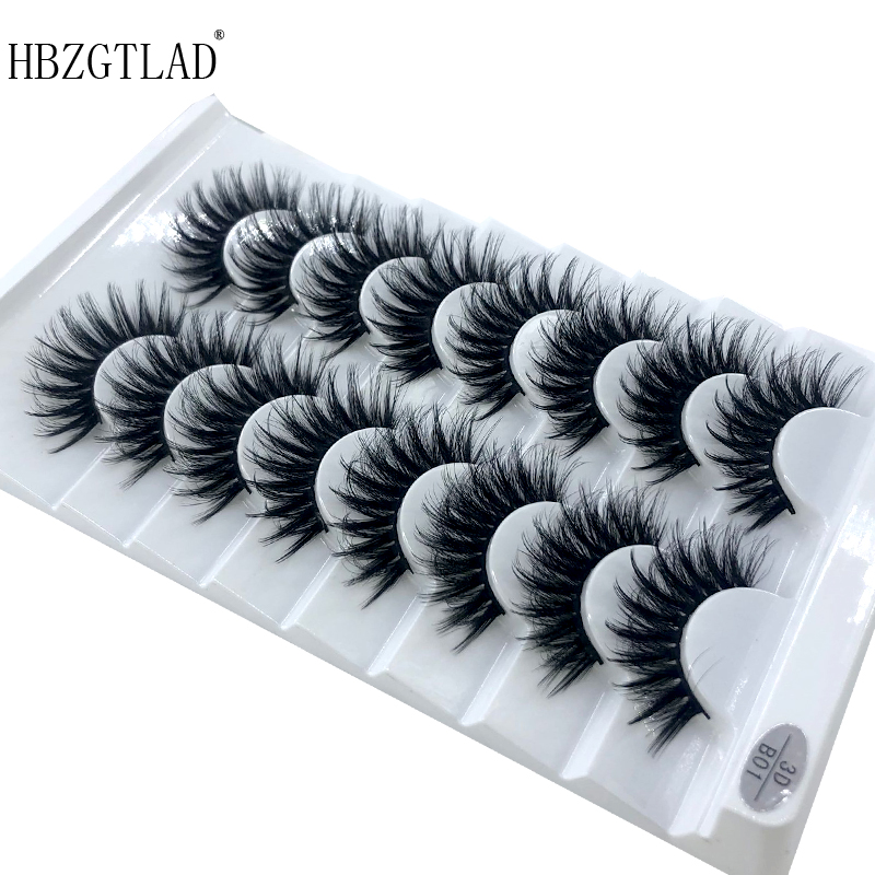 Image 3 - HBZGTLAD 5/8 /10 Pairs 3D Mink Hair False Eyelashes Natural/Thick Long Eye Lashes Wispy Makeup Beauty Extension Tools-in False Eyelashes from Beauty & Health