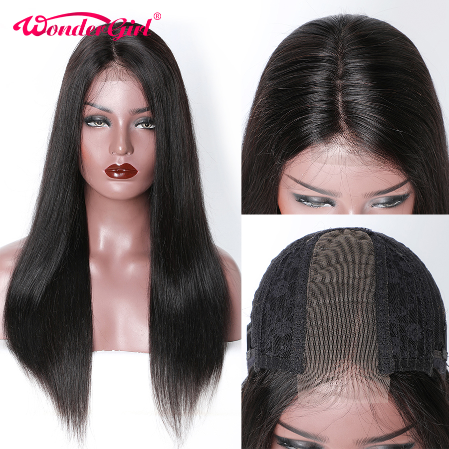 Wonder Girl Kim K Wig 2X6 Straight Lace Front Human Hair Wigs For Black Women Pre Plucked Remy Brazilian Lace Front Wig