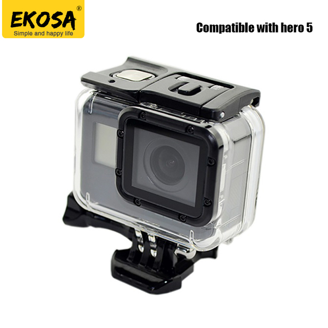 EKOSA Waterproof Housings For Gopro Hero 5 Protective Case Underwater 40m  Action Camera for Gopro Accessories Go Pro Hero 5 2a2dfdd0f316