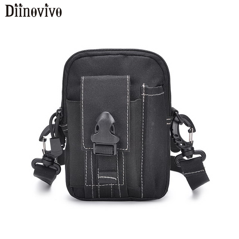 DIINOVIVO Tactical Molle Pouch Belt Waist Pack Small Pocket Military Waist Pack Unisex Travel Camping Bags Soft Back WHDV1104