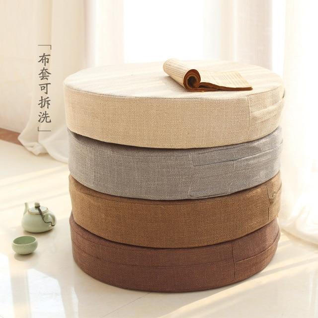 New Arrived Linen Lotus Futon Cushion Meditation Thickening Circle Japanese Style Large Floor Cushions Futons Seat Tatami