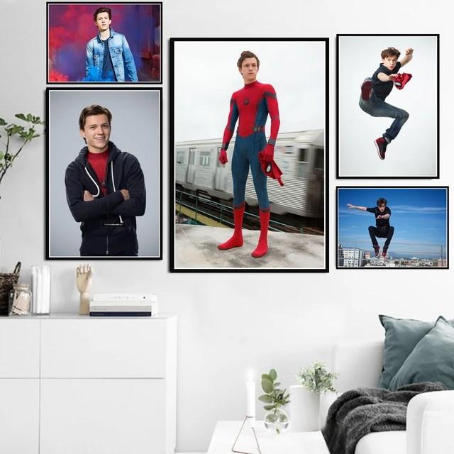 baiyinlongshop Leinwand Malerei Poster Drucke Tom Holland Marvel Filmschauspieler Star Spider-Man Kunst Leinwand /Ölgem/älde Wandbilder Wohnkultur 40x60Cm Ohne Rahmen