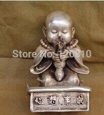 Estatua barata, estatua de bronce de alta calidad, estatua de Buda cobre de China de monje de bronce Tripitaker