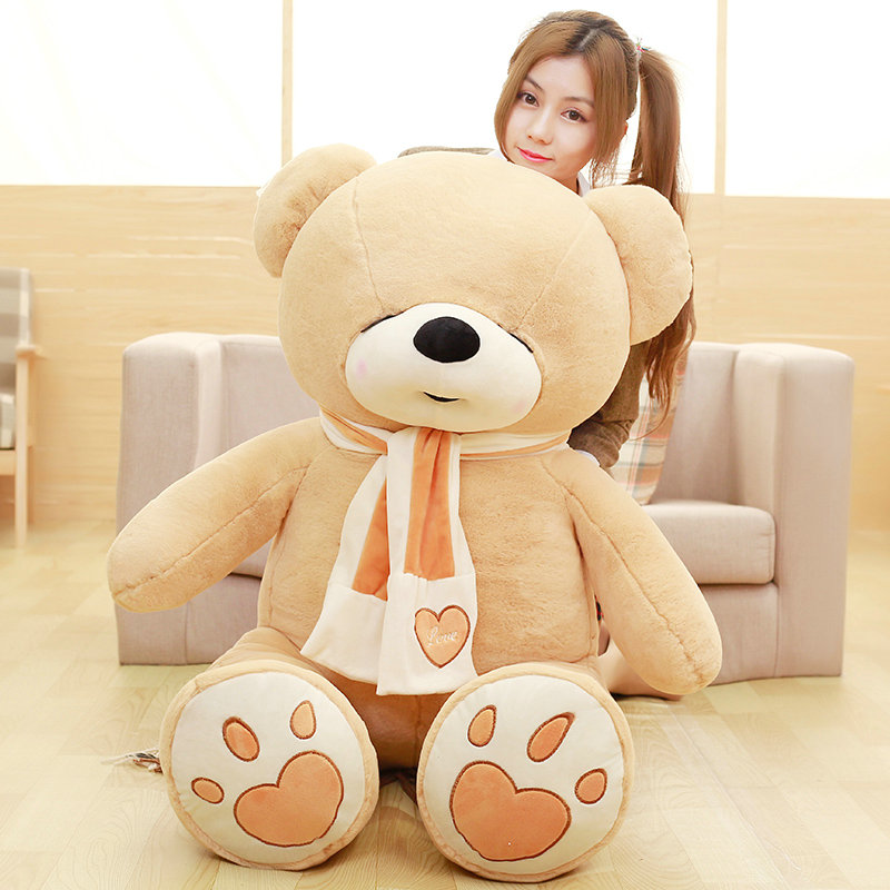 Drop shipping 80/100cm Cute teddy bear plush toys sleep bear doll stuffed PP Cotton plush animals birthday gift for baby baby kids children kawaii plush toys cute teddy bear stuffed animals doll brinquedos juguetes