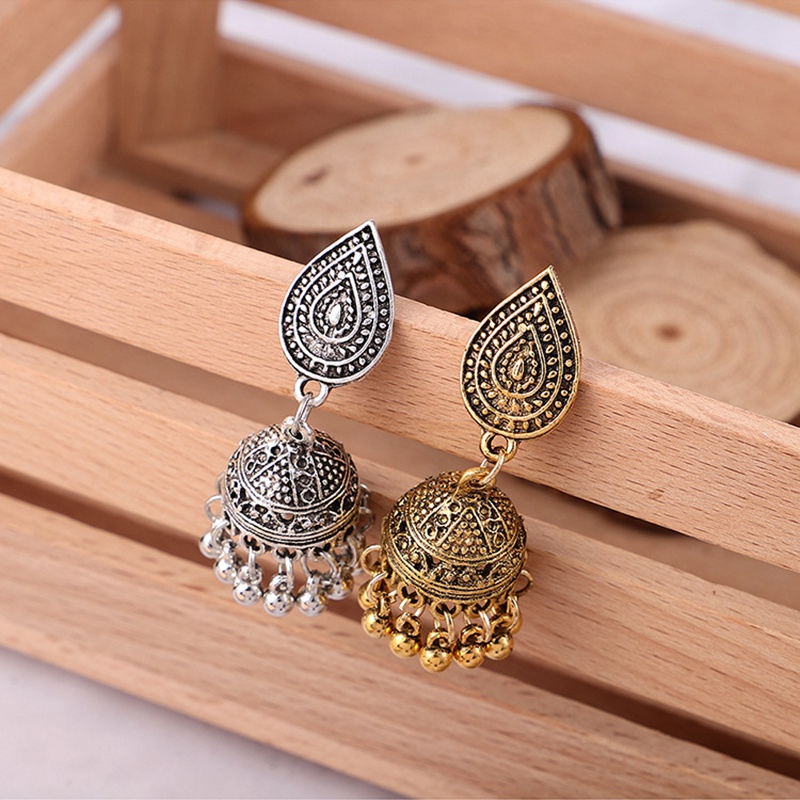 Brilliant Indian Birdcage Dangle Earrings Jewelry Ethnic Wedding Traditional Classic Bohemia Stage Earrings Kyy8649 Sufficient Supply Jewelry & Accessories Drop Earrings