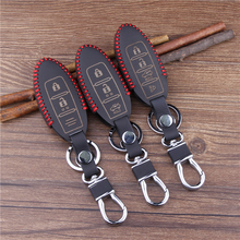 New Car Styling Key Cover Case For PATROL 307Z GT R MICRA JUKE QASHQAI MURANO Leather