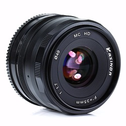 new Kaxinda 35mm f/1.7 Lens for Fujifilm FX X-A1 X-M1 X-E1 X-E2 X-Pro1 X-T1 Black