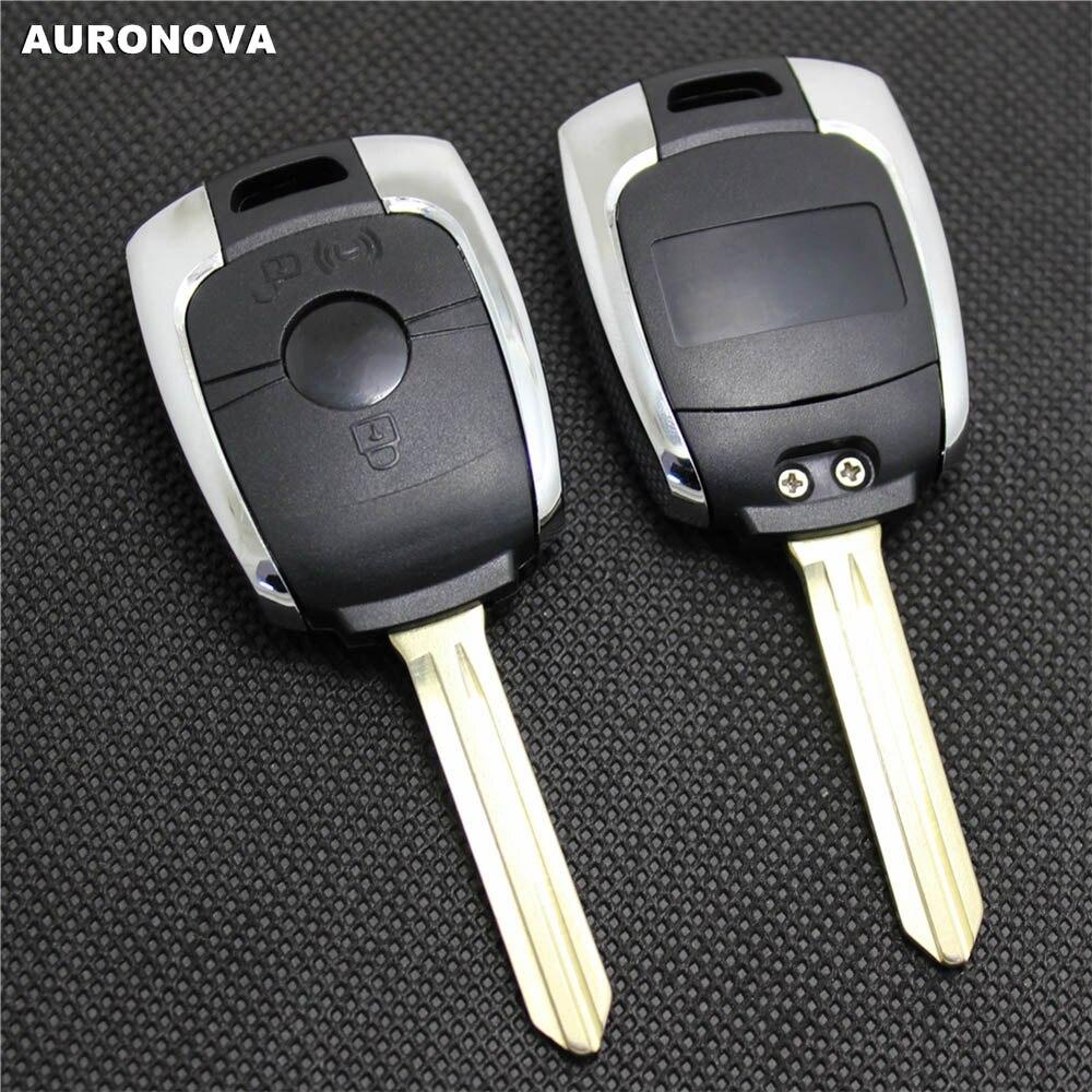 10 Pcs/lot AURONOVA nouvelle coque de remplacement pour Ssangyong Kyron Actyon Rexton Korando 2 boutons étui à clé de voiture à distance d'origine