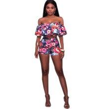 Women Summer Boho Beach Outfit Set Top Trending 2017 Slash Neck Ruffles Sexy Two Piece Set