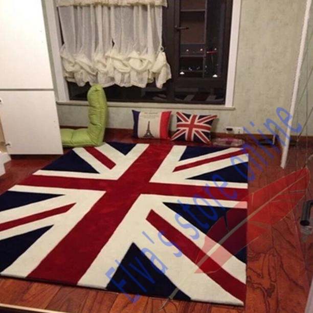 40x70cm UK English Fag Carpet Cartoon Handmade Living Room Parlor Bedroom Dining Hallway Doorway Bathroom