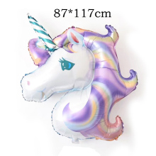 1Pcs Rainbow Unicorn Foil Balloons Baby Shower Decoration Inflatable Helium Balloon Birthday Party Supplies Kids Gifts