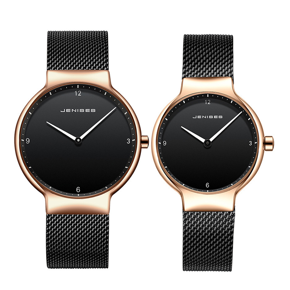 Couple Watches For Men Women Watches 2019 New Brand JENISES Business Watch Japan Quartz Wristwatch Male Hour Female Lovers Watch
