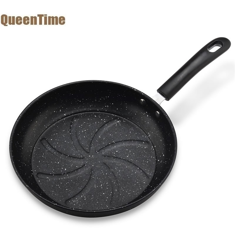 QueenTime Non-stick Frying Pan Medical Stone Coating 10