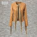 Yellow/black PU leather jackets women coat tassel hollow out  jacket veste en cuir femme cazadora cuero mujer blouson LT095