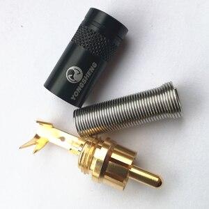 2 piece NEUTRIK YONGSHENG Gold plated RCA audio plug jack