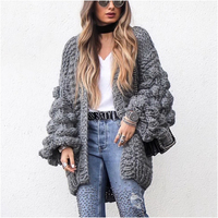 NYMPH 2017 Girl Casual Knitted Cardigan Autumn Winter Korean Women Loose Solid Color Fashion Design Sweater