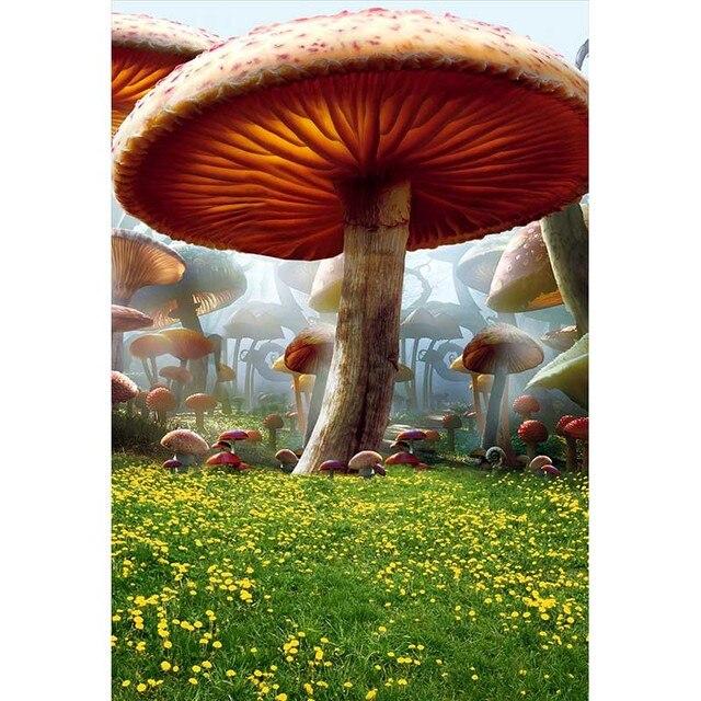 Aliexpress Com Buy Custom Vinyl Cloth Mushroom Flower