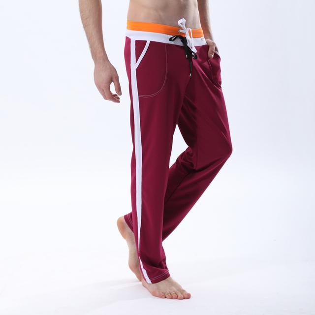 Calças calças dos homens livres do transporte malha-secagem rápida calças de salão calças 5 cores do tamanho S M L