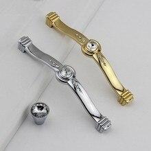 Crystal Drawer Pulls Handles Knob / Silver Gold Klichen Cabinet Cupboard Knobs Handle Furniture Hardware