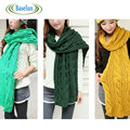 Hot Sale  Winter Large Women Knitting Infinity Scarf Thicker Muffler Scarves Solid Color Girls Scarf Gifts
