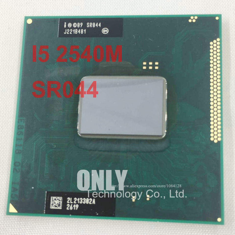Бесплатная доставка, оригинальный процессор Intel Core i5 2540M, 3M 2,6 ггц, разъем G2, двухъядерный процессор для ноутбука, Φ для HM65 HM67 QM67 HM76
