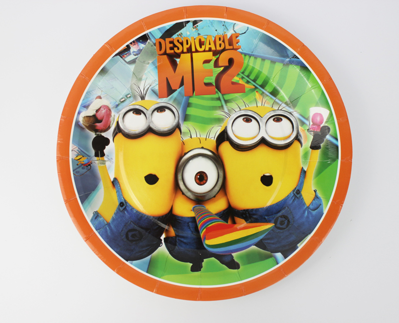 6pcs 7Inch Despicable Me Minions Cartoon Pattern Theme Paper Party Plates Birthday Party Supplies for Kids Party Decoration-in Disposable Party Tableware ... & 6pcs 7Inch Despicable Me Minions Cartoon Pattern Theme Paper Party ...