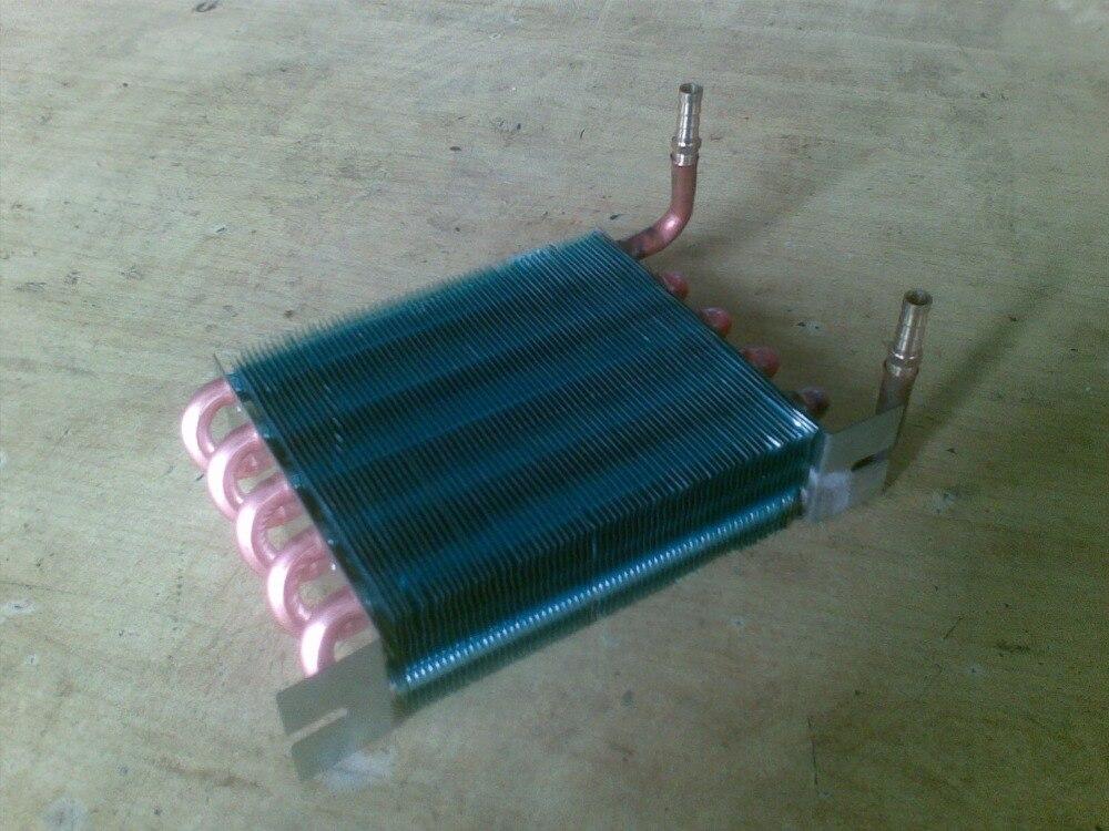 Tubo di rame di raffreddamento ad acqua plotone condensatore evaporatore radiatore 1/4 'interfaccia o pagoda giunto tubo di rame 9.52*0.33 raffreddato ad fila