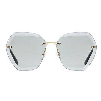 Rimless Diamond Cutting Lens Sunglasses Men Women Brand Designer Oversize Female Male Glasses Shades Sun Glasses
