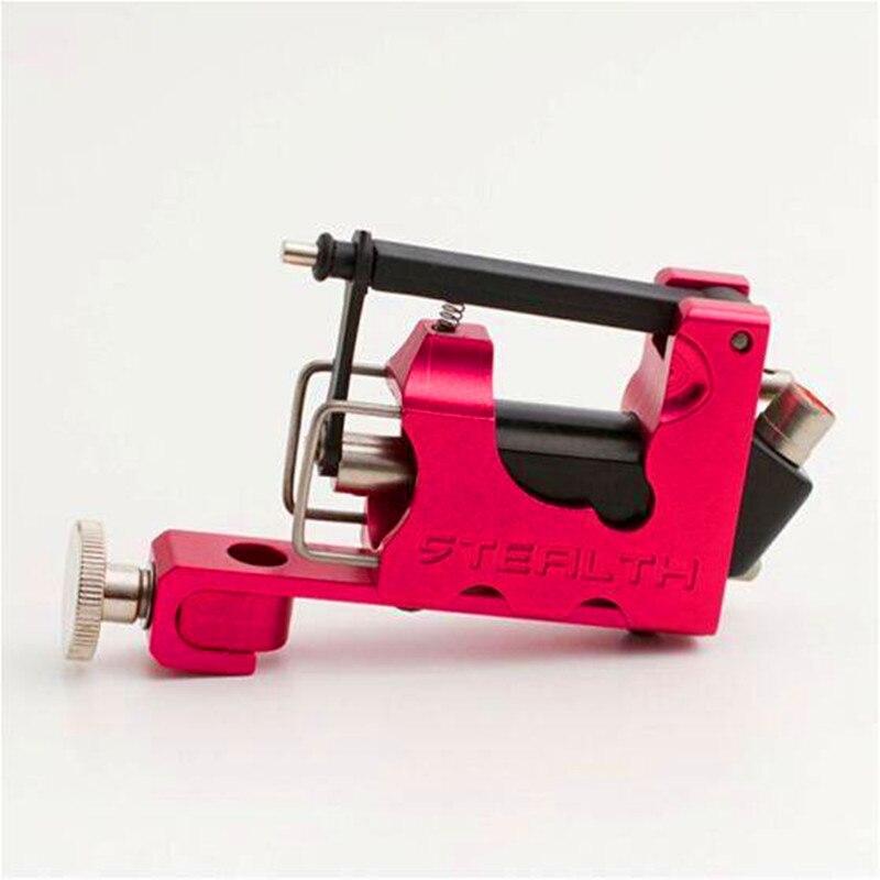 La Machine légère électrique rouge de tatouage a placé la Machine rotatoire furtive de l'alliage 2.0 avec la boîte pour le revêtement et le shader
