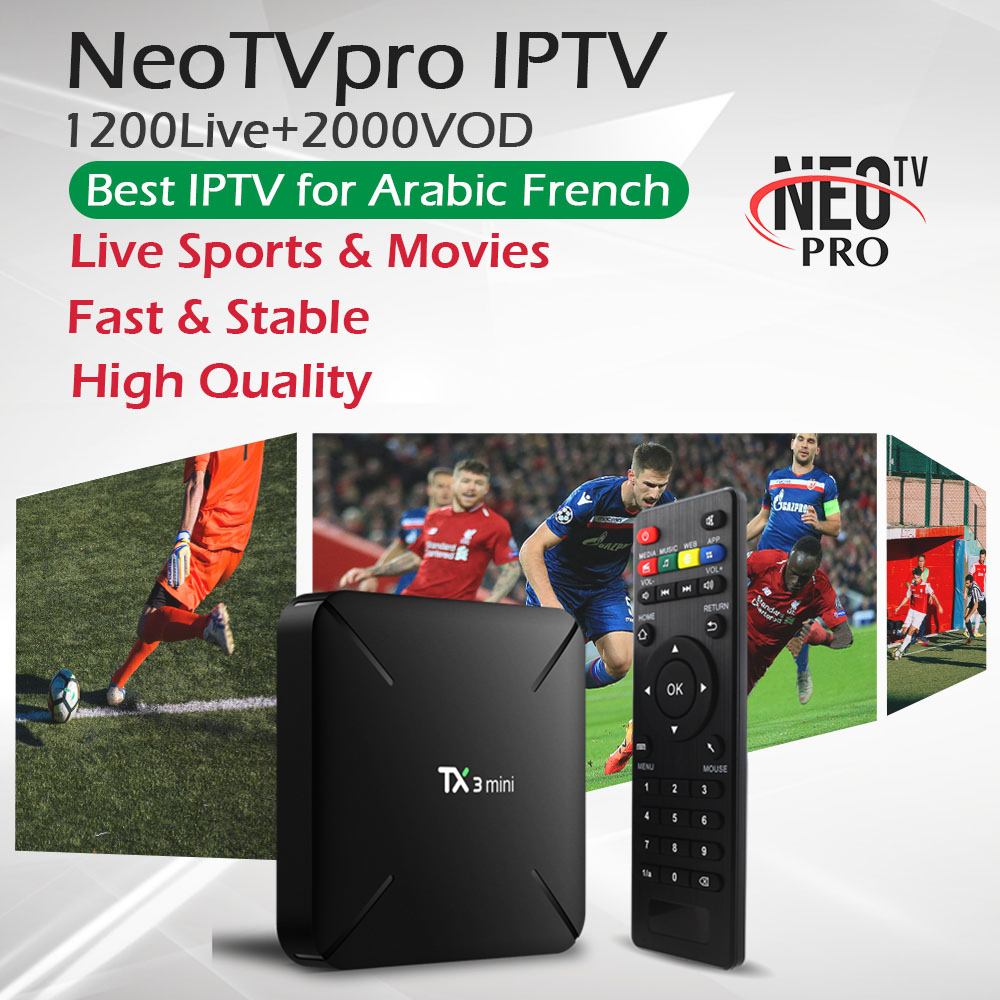 TX3Mini Android 7 1 TV Box 1 Year French Arabic IPTV NeoTVpro 1G 16G 2G 16G