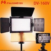 FALCON EYES DV-160V Alta CRI95 160 LED Luz De Vídeo de La Cámara para canon nikon sony panasonic videocámara dv dslr cámaras dv 160 v