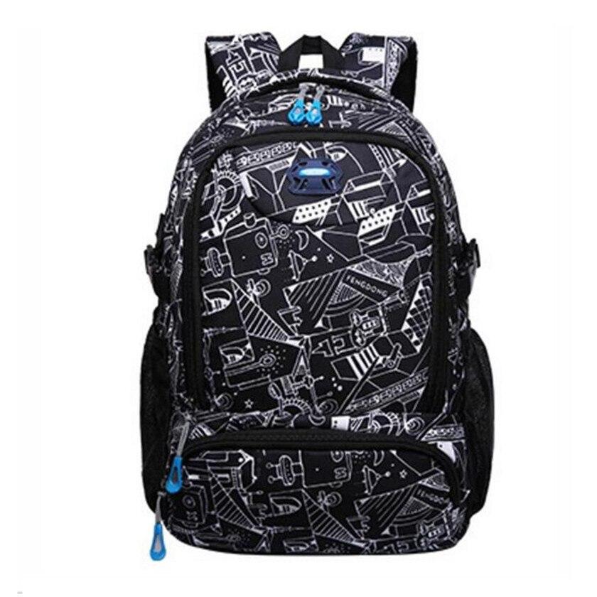 FengDong school bags for boys bagpack student waterproof graffiti school backpack kids b ...