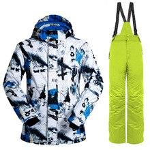 Unisex Winter Thermal Ski Suit Mens Womens Snowboard skiing Jacket Pants Outdoor Waterproof windproof Skiing sports suit