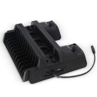 Multi function cooling Fan base Bracket 2 USB Charging Station Bracketfor PS4/Slim/Pro