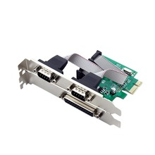 2 Port  ACS Desktop PCI-E to COM & RS232 Expansion Ports Cards Serial and Parallel Ports Adapter Card EM88
