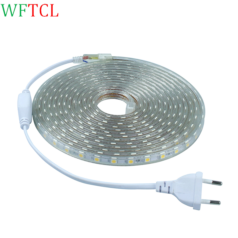 WFTCL SMD 5050 AC 110V led strip flexible light 1M 2M 3M 4M 5M 6M 7M